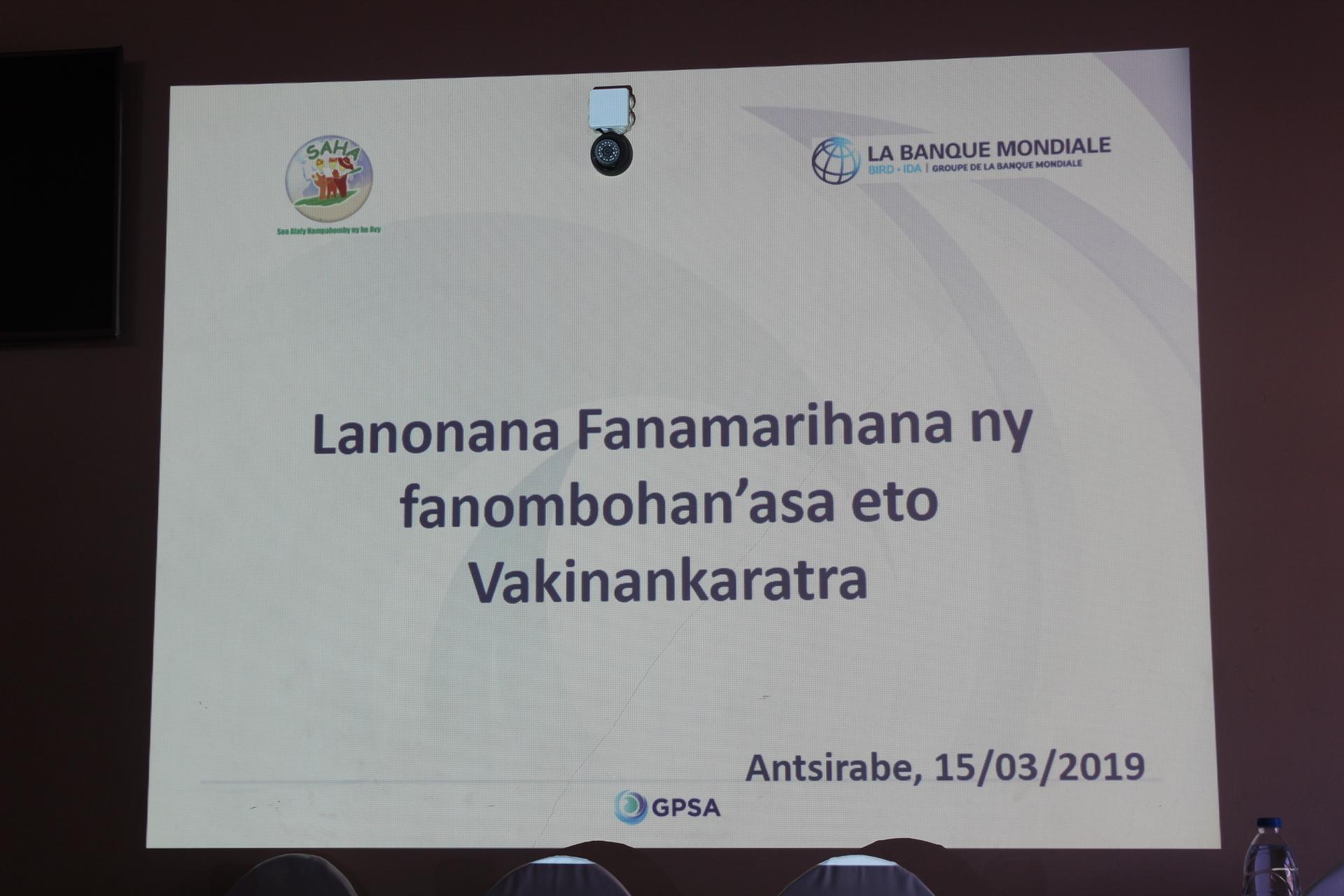 Lancement Vakinakaratra